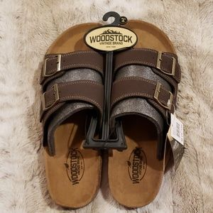 NWT - Woodstock Double Strap Sandals